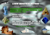 A NEW INDUSTRIAL METHOD (PATENTED) OF TRANSFORMING ORGANIC WASTE INTO FINISHED PRODUCTS AND BUILDINGS